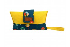 Mama Clutch Nappy Wallet with wristlet - Flora